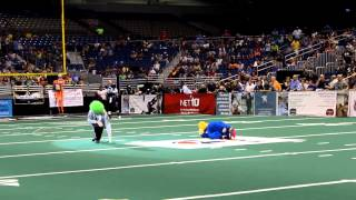 Fan Attacks Mascot- San Antonio Talons Swoop- July 13, 2012