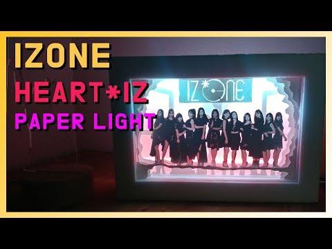 DIY l Make a IZONE - HEART*IZ Paper Light BOX