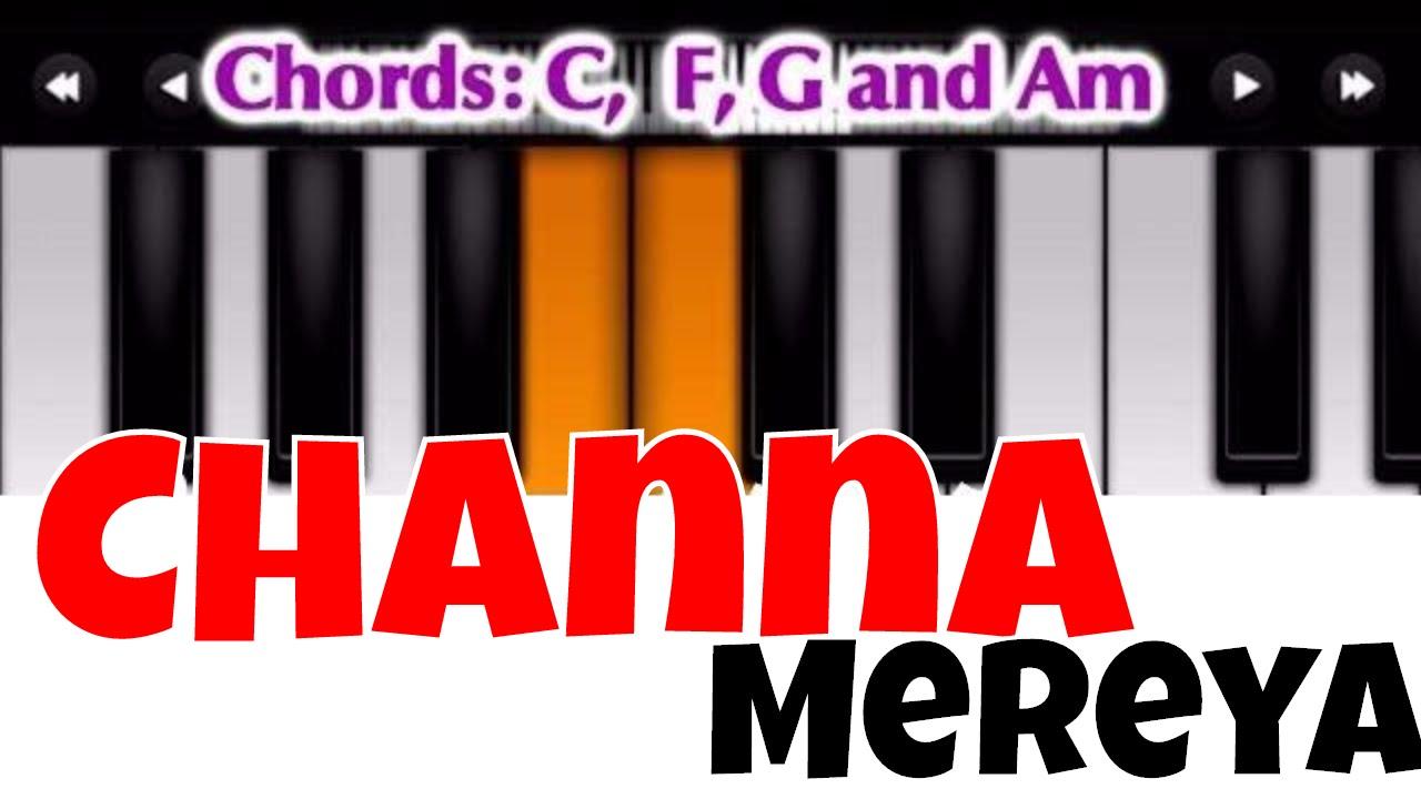Channa Mereya I Perfect Piano Tutorial Mobile Piano Songs Notes