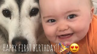 Happy 1st Birthday Baby Parker!! [CUTEST CLIPS EVER] [IMPOSSIBLE NOT TO SMILE]
