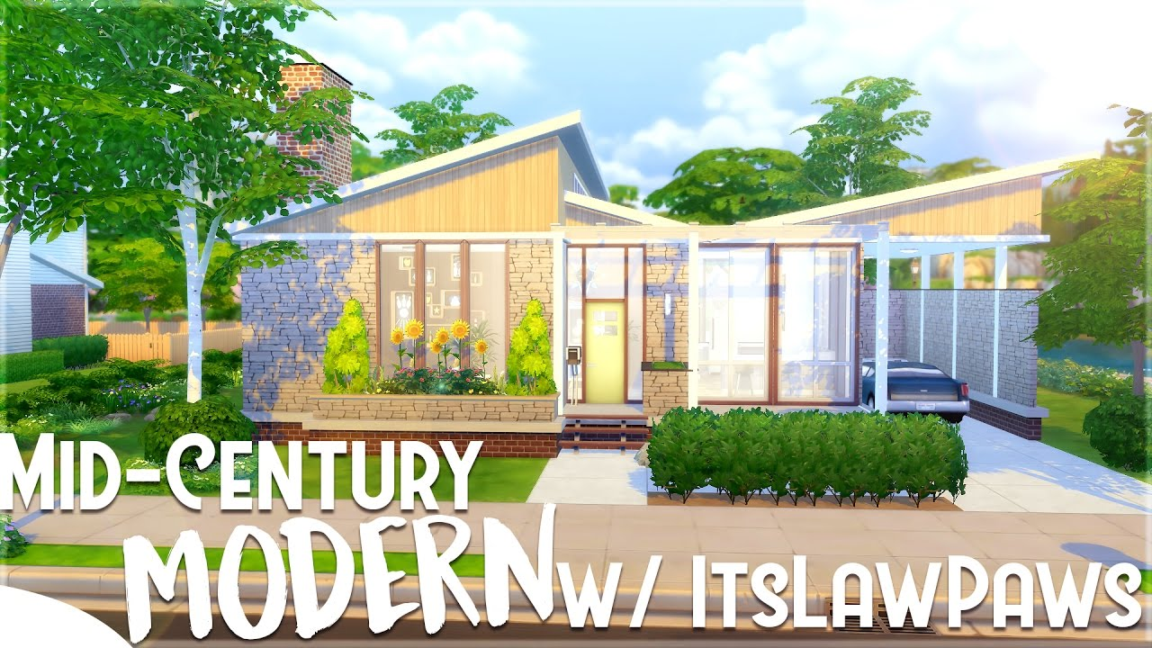 The Sims 4 House Building Mid Century Modern Challenge Vs Itslawspaws