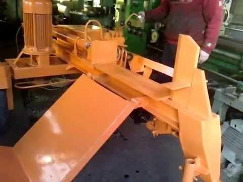 Masina crapat lemne, crapator lemne foc, masina spart butuci. Wood splitting machine. Log splitter.