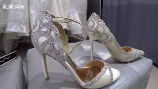 видео свадебные туфли на низком каблуке