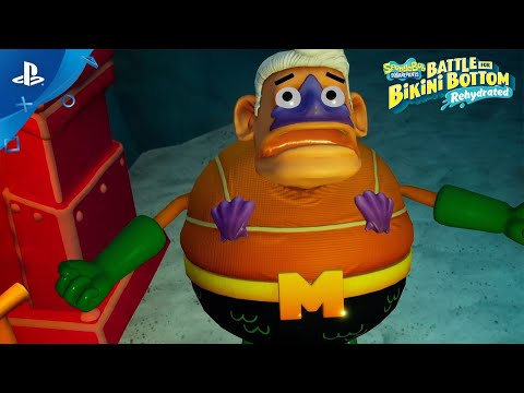 SpongeBob SquarePants: Battle for Bikini Bottom – Rehydrated – Boss Fight Trailer   PS4