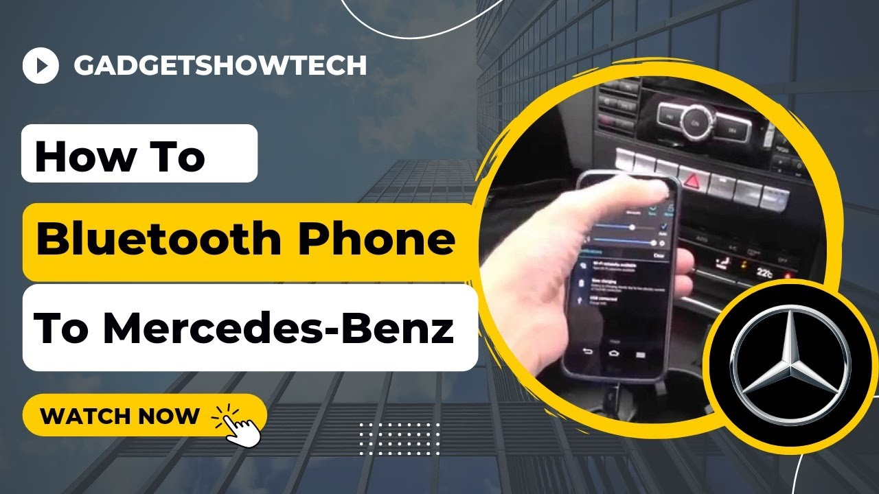 how to bluetooth mercedes benz pairing phone connect with