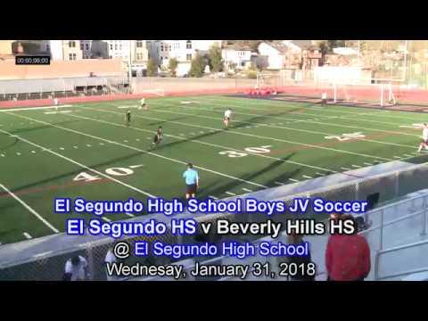 El Segundo High School BJV Soccer, El Segundo v Beverly Hills HS, January 31, 2018