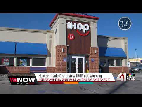 Diners fight cold temperatures after heater problems at Grandview IHOP