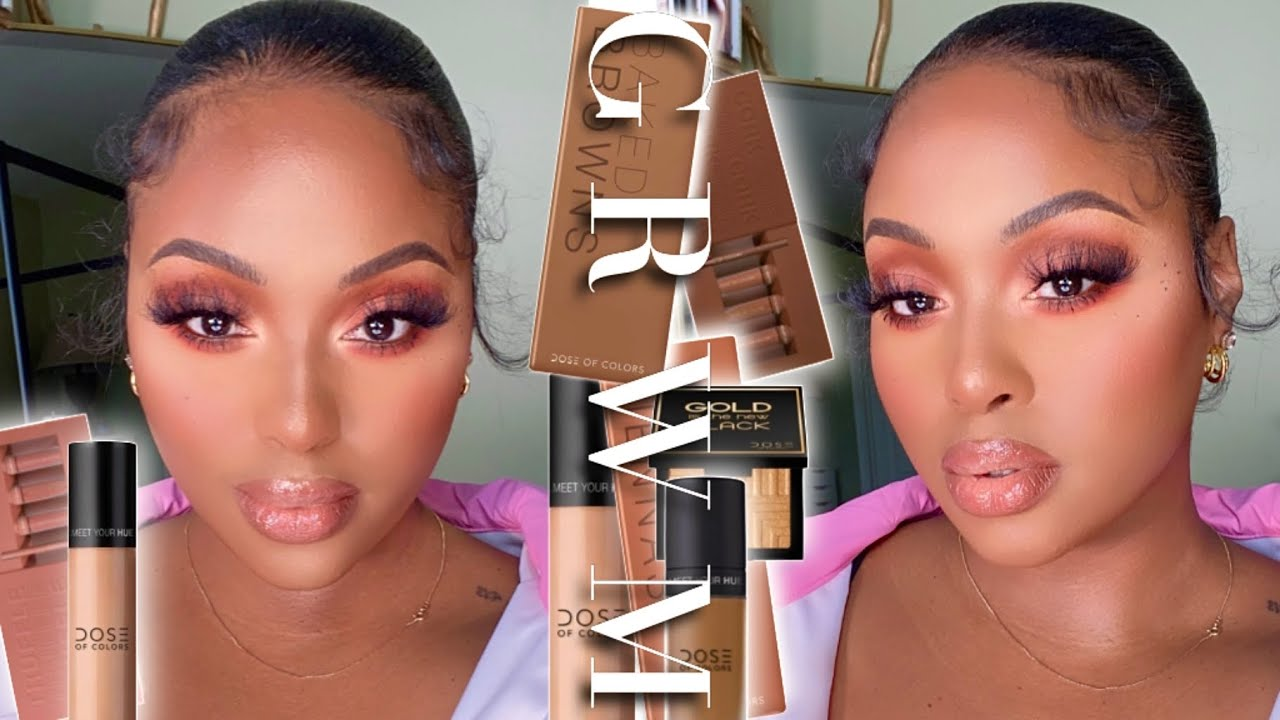 Peachy Bronze Springtime Glam | Flawless Base + Peach Eyeshadow | The Best Makeup For HD Pictures