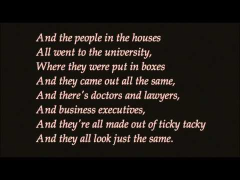 Little Boxes a capella cover lyrics YouTube