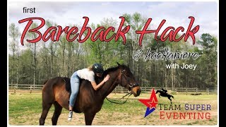 The First Time I've Ridden Joey Bareback & With a Hackamore!!!