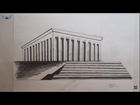 Ekt On Ekt Karakalem Manzara çizimi çalışması Karakalem çizimi