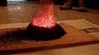 Volcano experiment: Amonium Dichromate