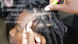 Quick & Easy Rubberband Method Box Braid Style | Anchor Braid Method | 3hrs | @irenesbraids
