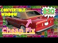 Cheap Fix for Torn Convertible Window - BMW e30 Project