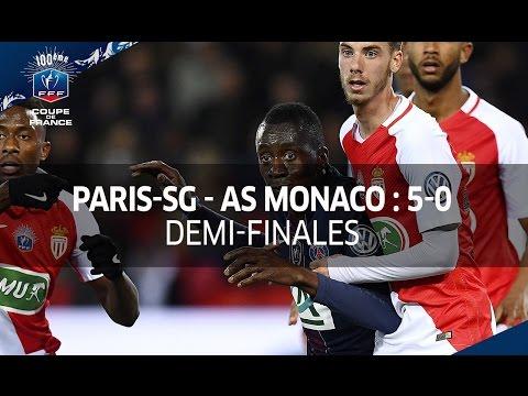 Coupe de France, 1/2 finales : Paris-SG  - AS Monaco 5-0