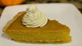 Homemade Pumpkin Pie! Pumpkin Pie From Scratch!