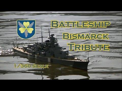 CVP - Bismarck Battleship Tribute In 1/360 Scale