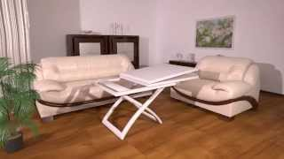 Раскладной стол трансформер Бигус(На видео показан процесс раскладывания деревянного стола трансформера Бигус из обеденного стола в компакт..., 2014-07-02T07:21:57.000Z)