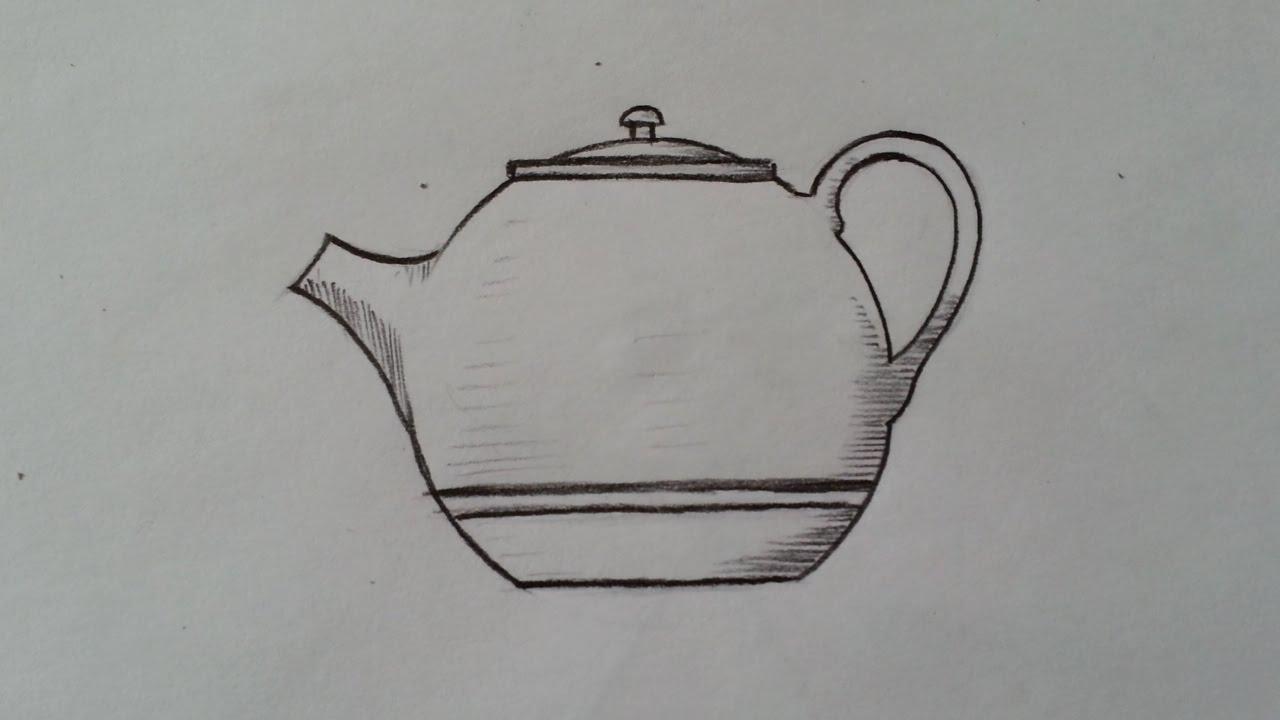 كيف أرسم ابريق شاي بطريقة سهلة جدا Youtube