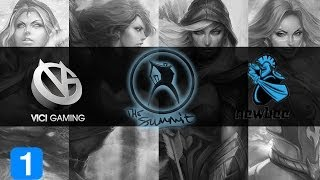 NewBee vs ViCi Gaming Highlights #1 The Summit - Qualifiers