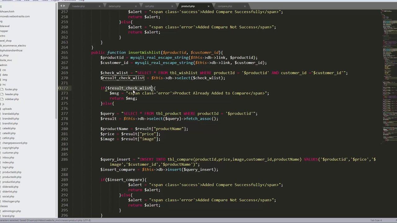 Bài 53 :Lập trình Website PHP mô hình MVC - Sản phẩm yêu thích