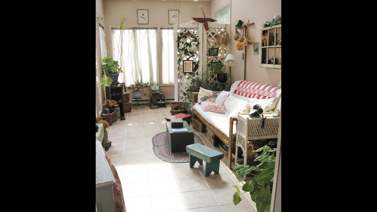 Garden Room Antique Decor Decorating - YouTube
