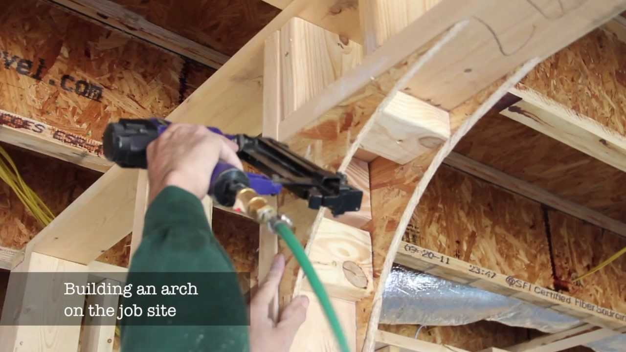 Building a plywood arch vs the universal arch kit youtube for How to start building a house