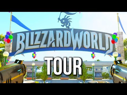 A Tour Around the Blizzard World Map - Overwatch