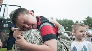Soldiers Coming Home to Kids Compilation (2018)