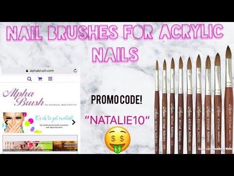 Nail Brushes For Acrylic Nails   Alpha Brush   PROMO CODE 🤑