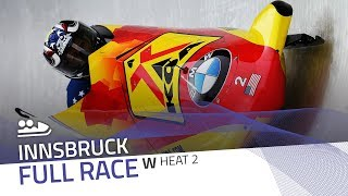 Innsbruck | BMW IBSF World Cup 2017/2018 - Women's Bobsleigh Heat 2 | IBSF Official