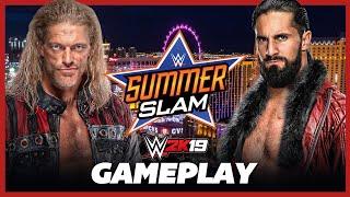 AWESOME! Edge vs Seth Rollins - SummerSlam 2021 - WWE 2K19 Gameplay