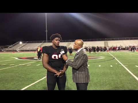 INTERVIEW - DRAKE JACKSON CENTENNIAL HS  IMPACT PLAYER - LIVE HIGH SCHOOL FOOTBALL BROADCAST