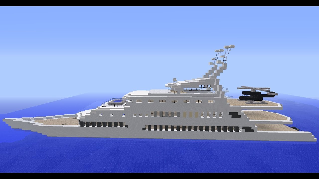 minecraft grand yacht de luxe by matmorejeux d butant. Black Bedroom Furniture Sets. Home Design Ideas