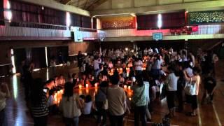 亀山南小学校ピースキャンドル2015