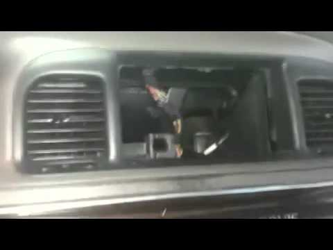 how to install double bin radio grand marquis - YouTube