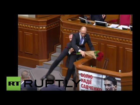 Ukraine: Rumble in the Rada! Yatsenyuk gifted and lifted before brawl erupts