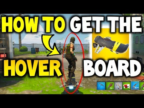 How To UNLOCK The HoverBoard In Fortnite Save The World - Hoverboard Gameplay