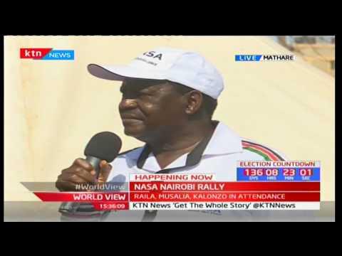 NASA Co-Principal Raila Odinga issues stern warning to president Uhuru Kenyatta concerning governors