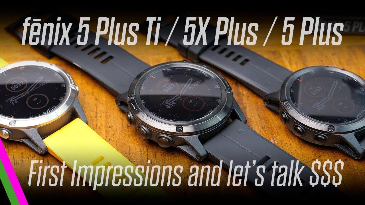 Garmin Fenix 5 Plus Ti 5x 5 Comparison 2018 Vs 2017 Youtube