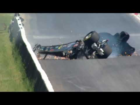 Joey Severance wild Top Alcohol Dragster crash