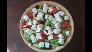Вкусный салат а-ля греческий вкусный, легкий