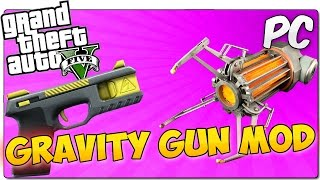 GTA 5 PC MODS | GRAVITY GUN | La pistola de gravedad de Half Life en GTA V