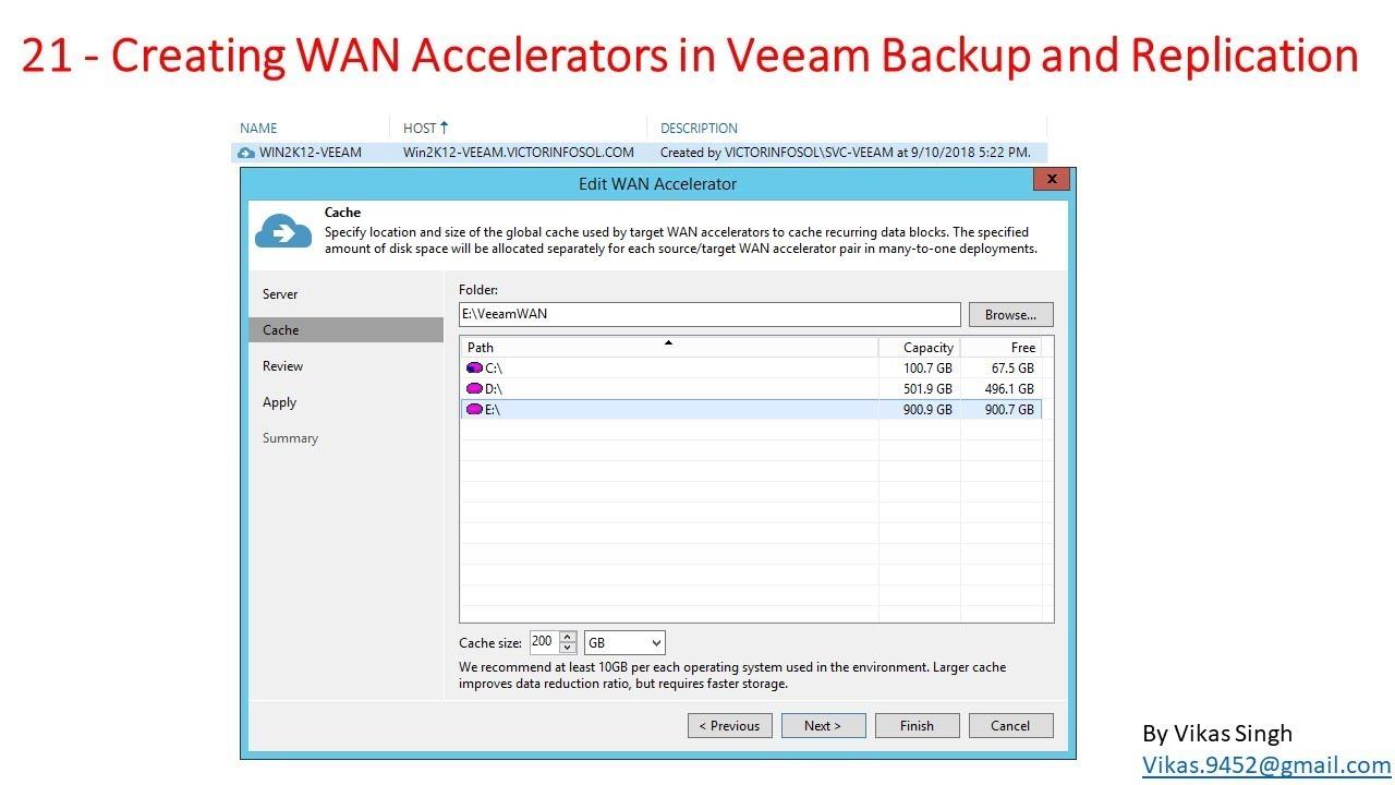 Veeam Advance Training   21 - Creating WAN Accelerators in Veeam Backup and  Replication