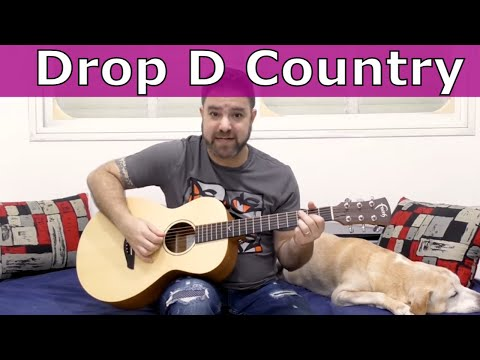 Advanced Country Rhythm in Drop D  |  Fingerstyle Guitar Lesson  |  LickNRiff