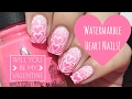 Watermarble Hearts- Valentine's Day Nail Tutorial! ❤️