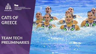 Artistic Swimming Olympic Qualifier  Greece's 'Cats' on stage