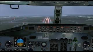 FS2004 - KLM boeing 737-400 landing at Milan LIMC