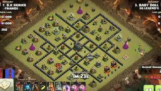 Clash Of Clans || attacking strategy on war|| Air troops || best attack ever