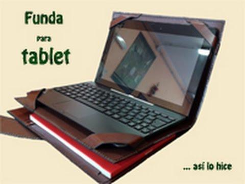 Funda de cuero para tablet con teclado youtube - Fundas con teclado para tablet ...